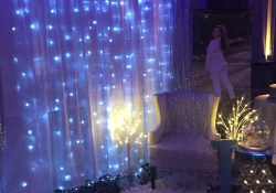 Princess Chair Set-Up - Winter Wonderland Sweet 16 | Winter intended for Sweet 16 Ideas For Winter
