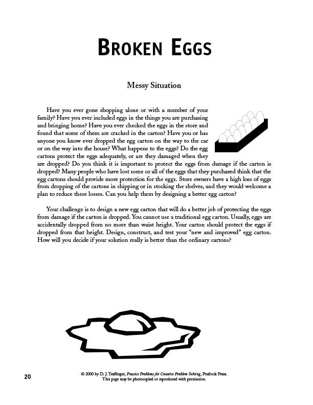 Prufrock Press : Practice Problems For Creative Problem Solving for Creative Problem Solving Examples 56803