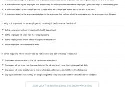 Quiz & Worksheet - Methods For Giving Employee Feedback | Study inside Employee Feedback Examples