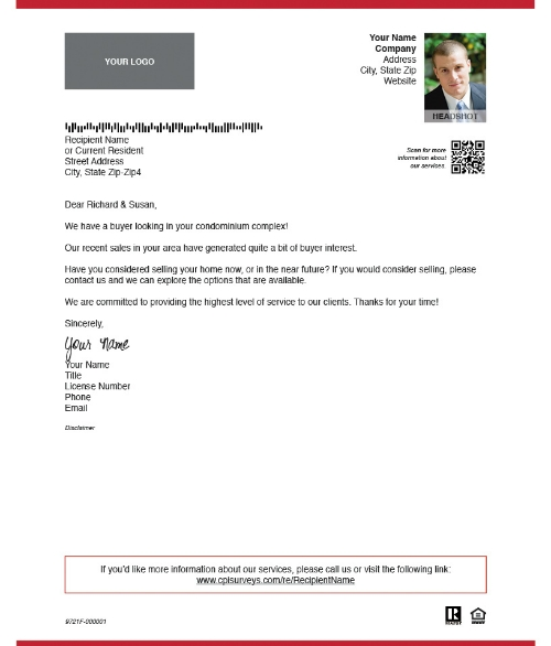 Real Estate Marketing: Examples Of Prospecting Letter Templates pertaining to Real Estate Prospecting Letters Samples 58929