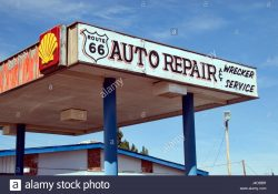 Route 66 Auto Repair & Wrecker Service Stock Photo: 140435899 - Alamy with Route 66 Auto Repair
