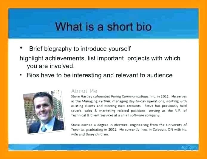 short personal bio examples