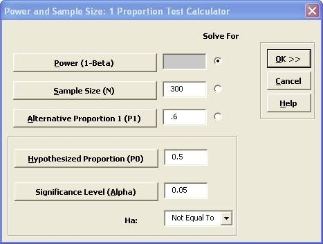 Sigmaxl | Perform A Power And Sample Size Calculation For One with Sample Size Calculator Power 59535