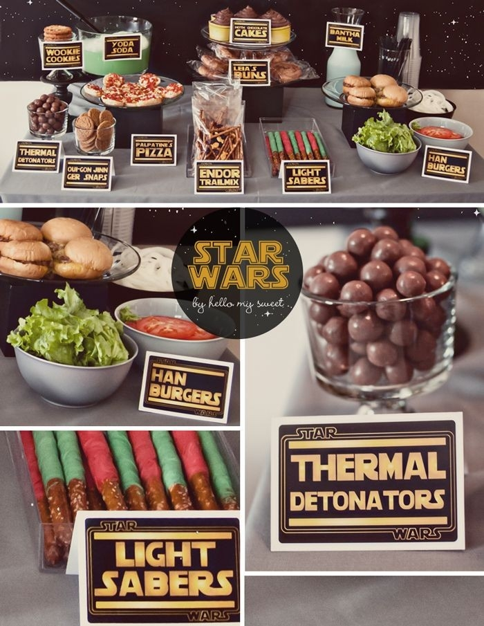 Star Wars Party Printable Decorations - Personalized Set In 2018 regarding Star Wars Party Food Ideas 37151