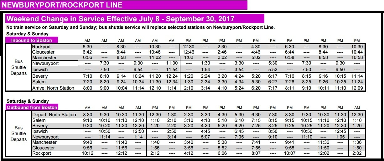 Tarr Talk: Mbta Weekend Rail Service Suspension pertaining to Mbta Bus Schedule 47765