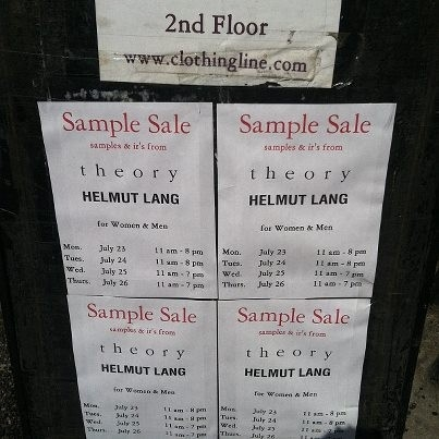 The Deets To The Theory & Helmut Lang Sample Sale | The Fly Girl Guide for Helmut Lang Sample Sale 59334