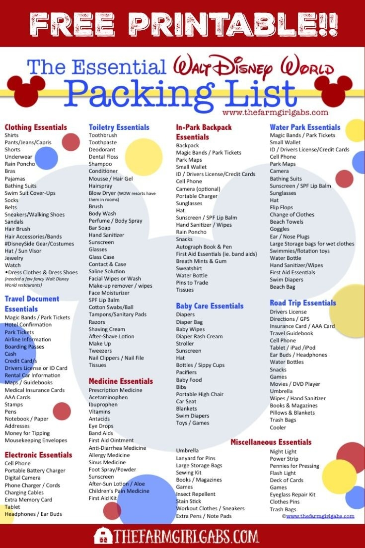 The Essential Walt Disney World Packing List Is A Great Resource For in Packing List For Disney World 37402