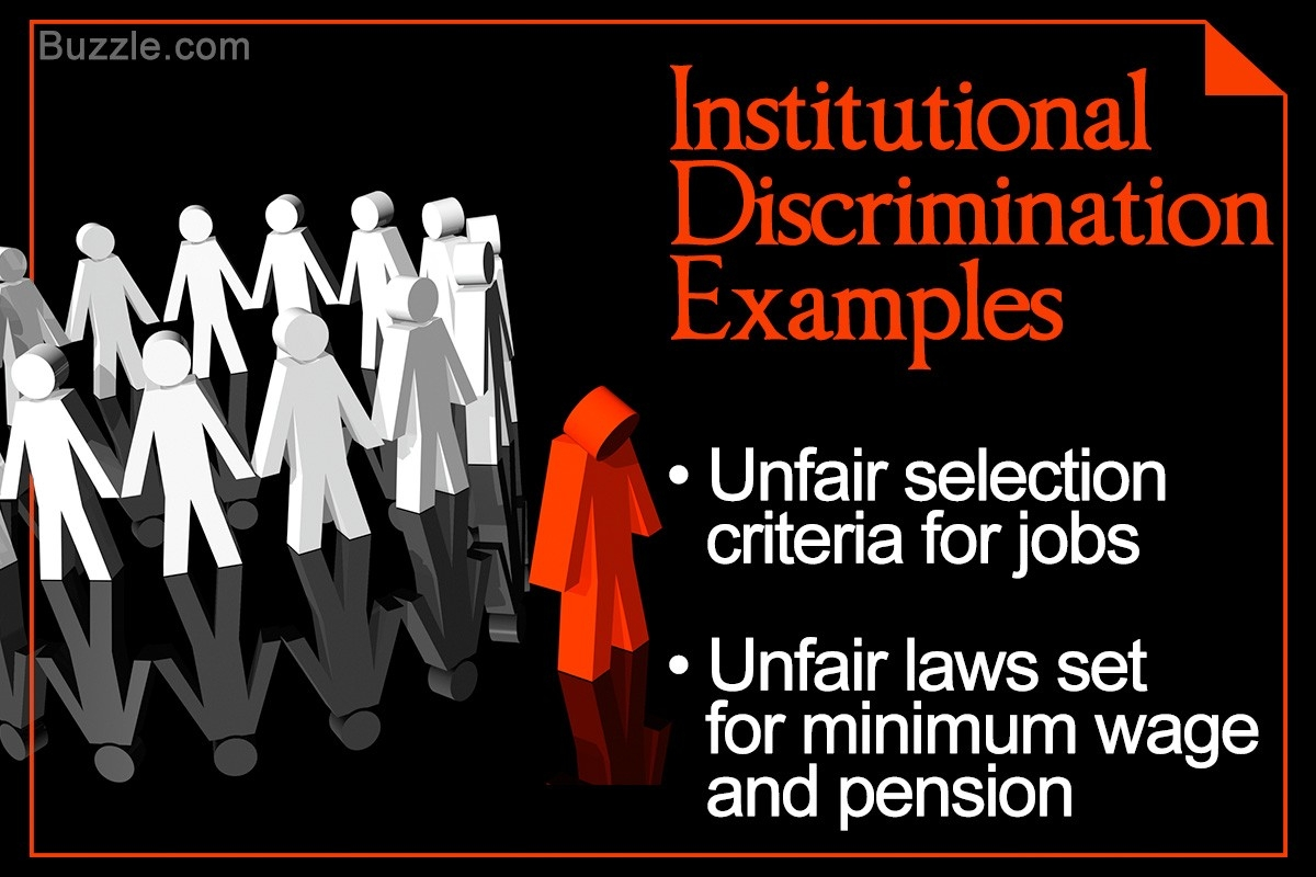 The Issue Of Institutional Discrimination With A Few Examples in Institutional Discrimination Examples 57804