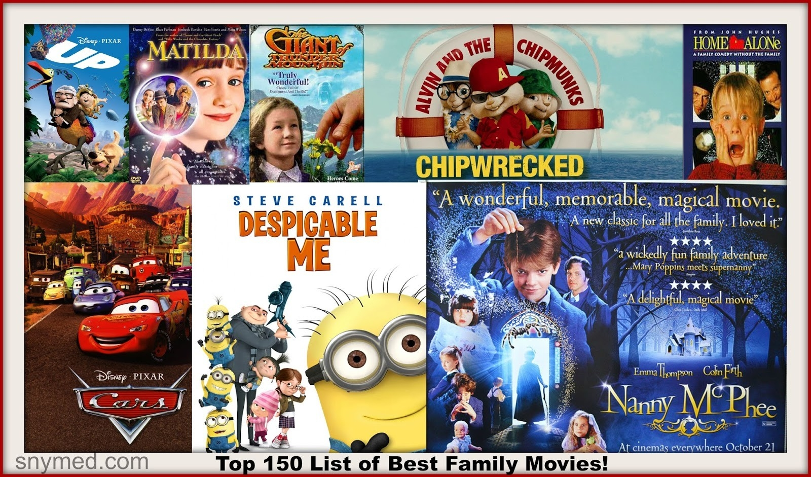 Top 150 List Of Best Family Movies To Watch With The Kids Tonight intended for Kids Movie List 36807