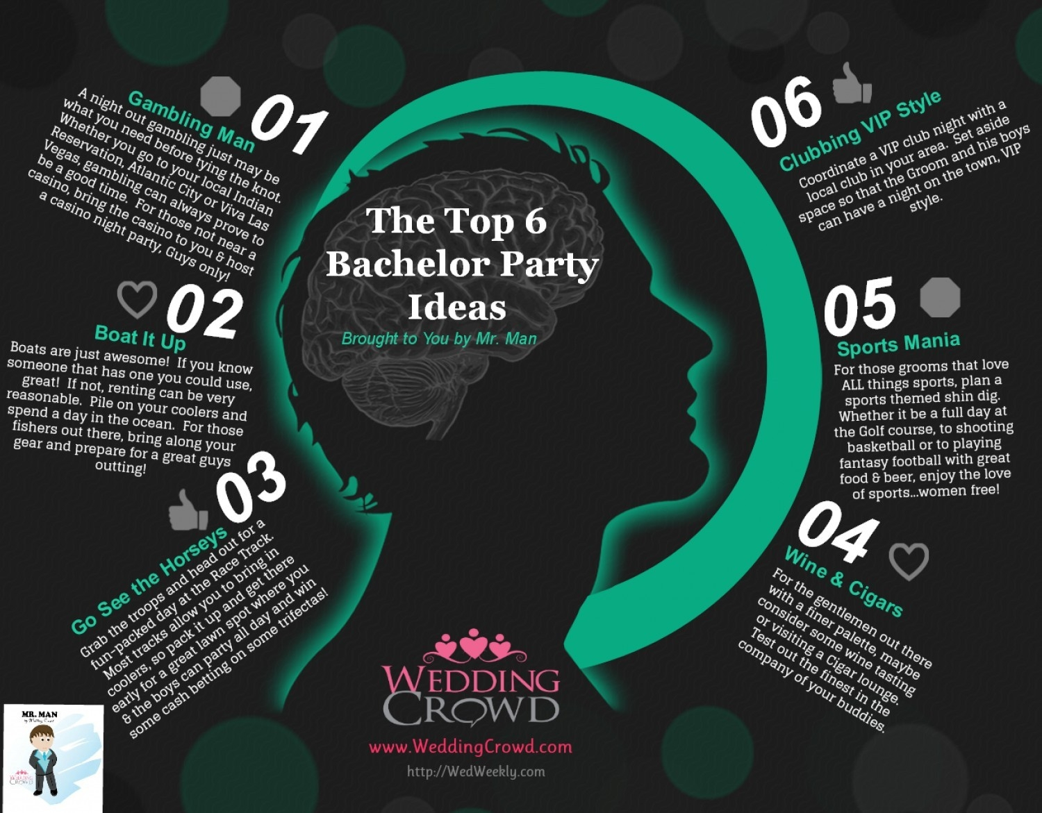 Top Bachelor Party Ideas   Visual.ly pertaining to Best Bachelor Party Ideas 37624