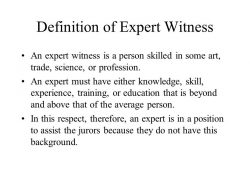 Unit 3 Seminar! K. Austin Zimmer Any Question From Unit 2! Please for Expert Witness Definition