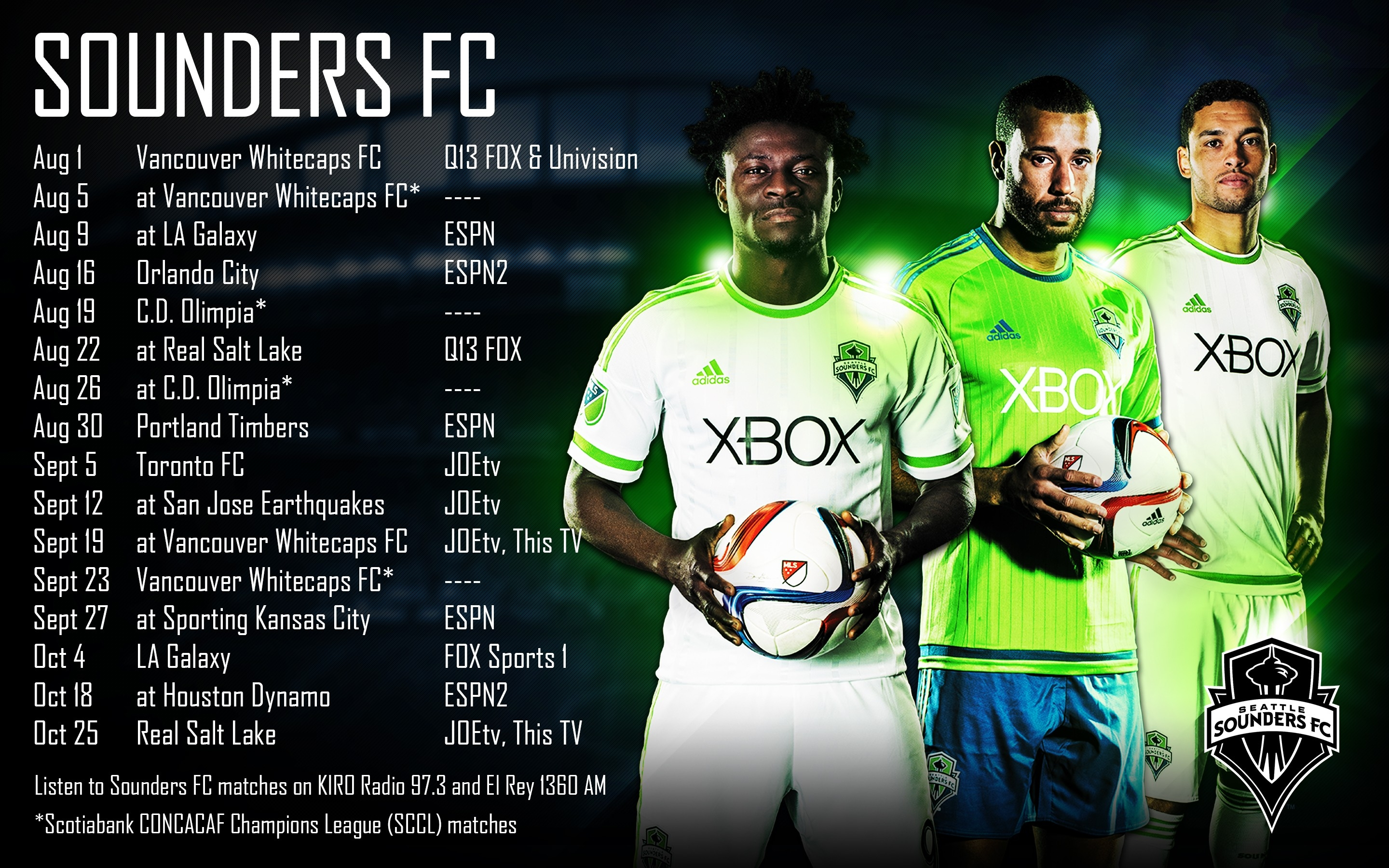 Updated Schedule Wallpaper | Seattle Sounders Fc intended for Seattle Sounders Schedule 48236