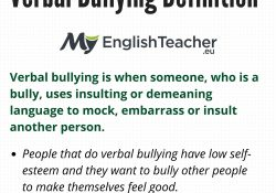 Verbal Bullying Definition - Myenglishteacher.eu with Definition Of A Bully