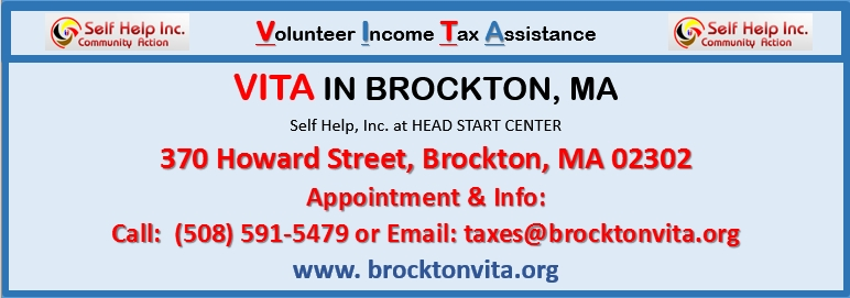 Vita In Brockton, Ma At Self Help, Inc. - Free Income Tax inside Self Help Brockton 46858