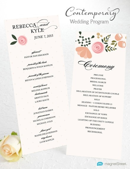 Wedding Program Wording | Magnetstreet Weddings in Wedding Program Wording Examples 56611