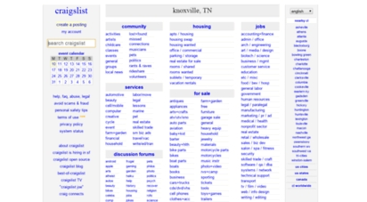 Welcome To Knoxville.craigslist - Craigslist: Knoxville, Tn Jobs inside Craigs List Knoxville Tn 37794