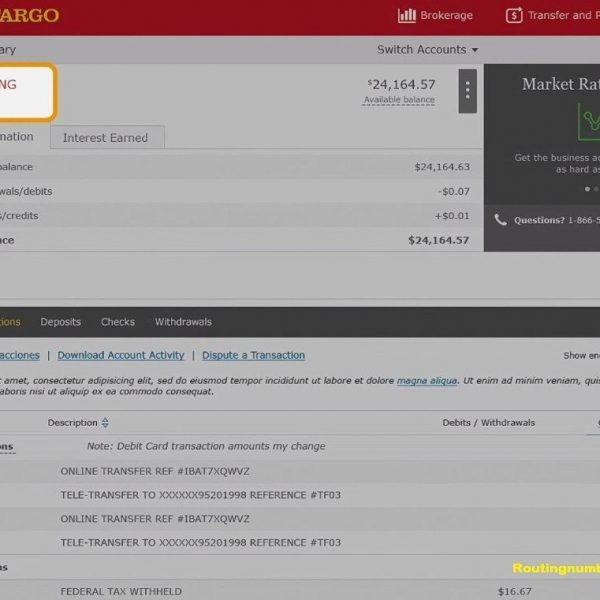Wells Fargo Routing Number – Know Everything About Your Bank ... on