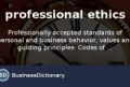 Work Ethics Definition