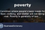 What Is Poverty Definition