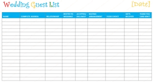 7 Free Wedding Guest List Templateanagers Throughout Template Excel 24232