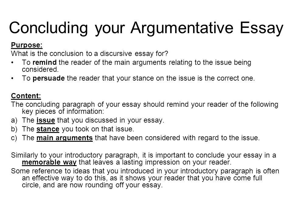 How to Write a Strong Conclusion Paragraph in an Argumentative Essay