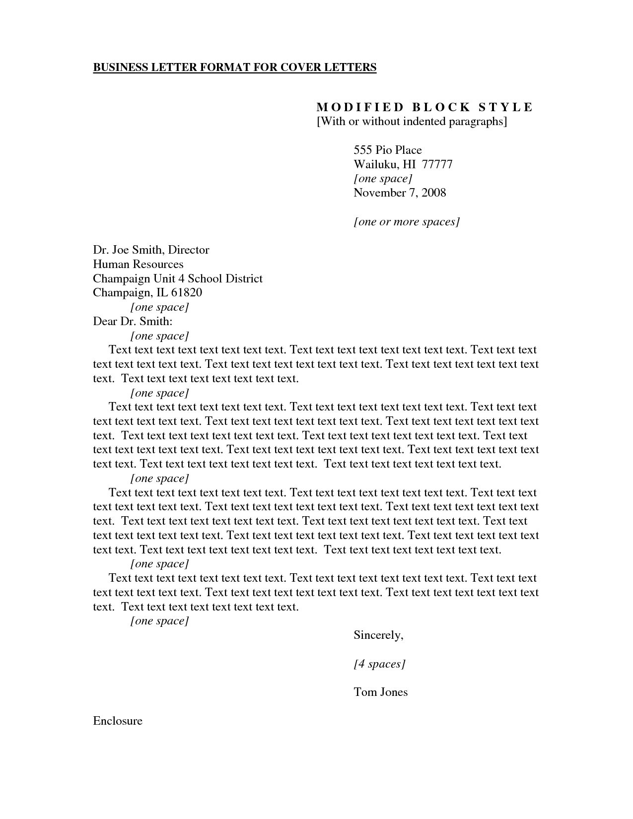 award winning cover letters - formal business cover letter format examples and forms