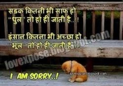 I Am Sorry Quotes For Girlfriend In Hindi   World Of Example with I Am Sorry Quotes For Girlfriend In Hindi