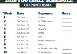 2018 Printable Fiu Golden Panthers Football Schedule | Printable with regard to Fiu Football Schedule