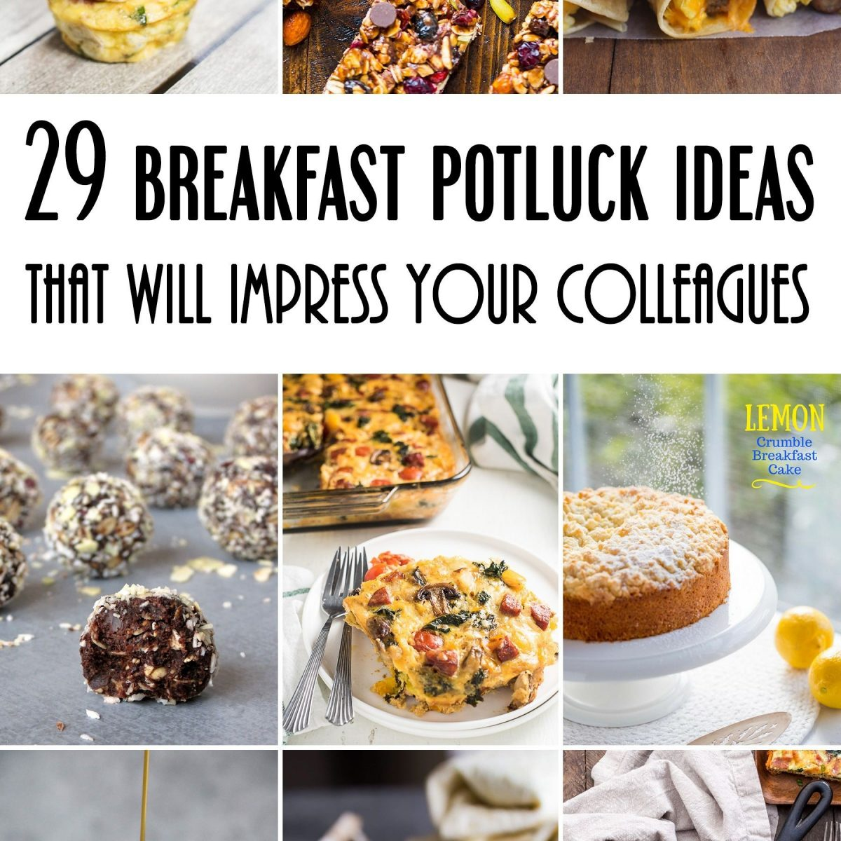 29 Breakfast Potluck Ideas For Work That Will Impress Your for Breakfast Potluck Ideas