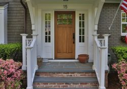 Bluestone & Brick Front Entrance Steps | Masonry, Patios & Porches with Front Door Steps Ideas