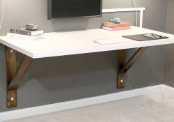 Build A Wall Mounted Desk - Diywithrick | Diy Furniture & Decor In in Diy Wall Mounted Desk