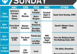 Fall Tv 2015: Primetime Schedule Week At A Glance - Channel Guide regarding Own Tv Schedule