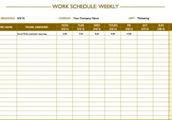Free Work Schedule Templates For Word And Excel in Work Schedule Maker