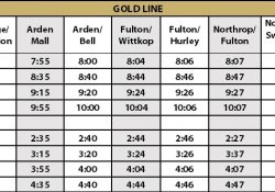 Gold Line intended for Gold Line Schedule