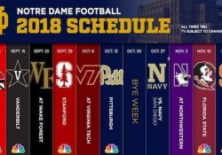 Notre Dame Releases 2018 Football Schedule - Cbssports within Notre Dame 2017 Football Schedule