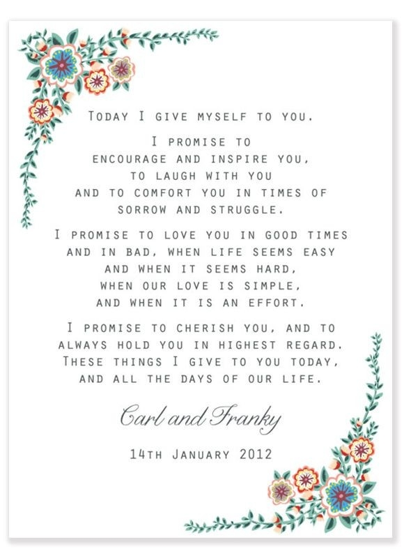 One Year On ~ A Beginners Guide To Marriage…   I Do <3   Pinterest pertaining to Examples Of Wedding Vows