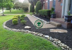 River Rock Vs Mulch Landscaping | My Garden | Landscaping With Rocks inside Mulch Bed Ideas