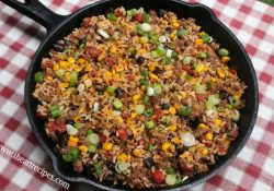Tex Mex Beef Skillet | I Heart Recipes regarding Supper Ideas With Ground Beef