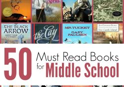 The Unlikely Homeschool: 50 Must Read Books For Middle School for Middle School Book List