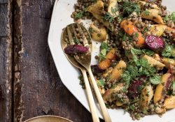 Warm Lentil And Root Vegetable Salad With Coconut Tzatziki Recipe regarding Winter Salad Ideas