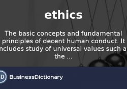 What Does Ethics Mean? Definition And Meaning - Businessdictionary for What Is The Definition Of Ethics